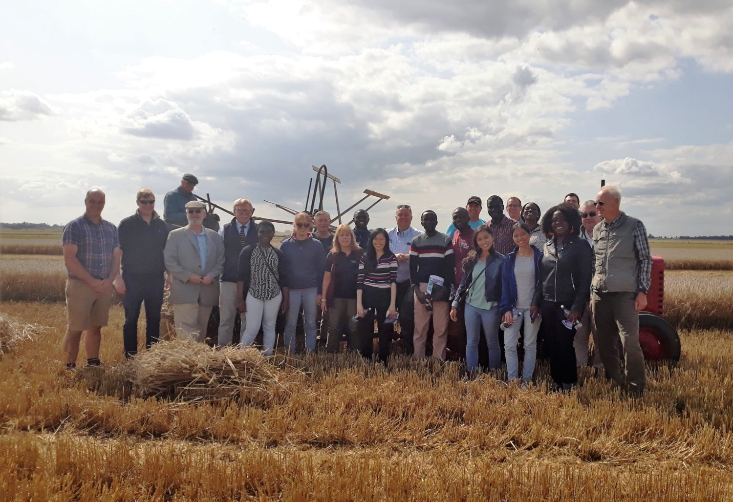 International students visit the farming Fen in quest to help developing countries grow out of hunger