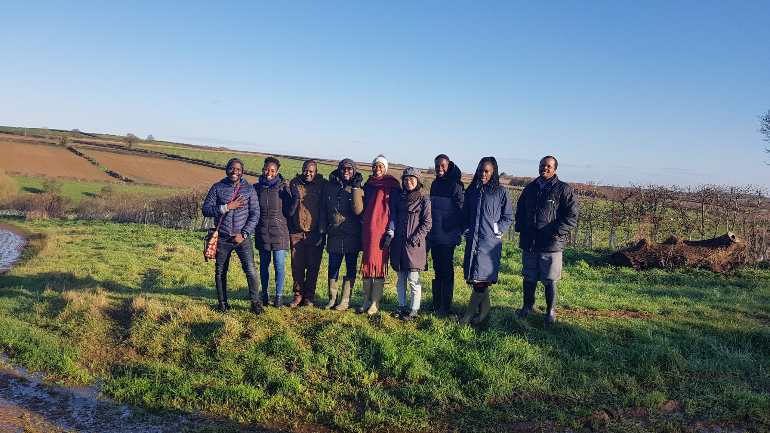 Agricultural development students support their studies with visit to Rutland farm