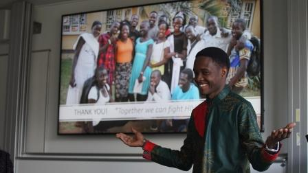 Vincent leads 'Stop HIV Stigmatization and Discrimination amongst young people' campaign